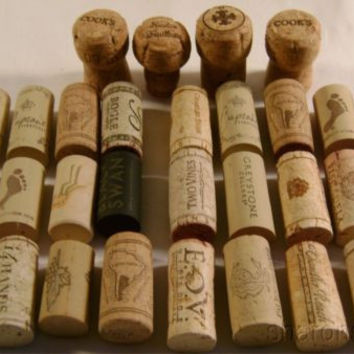 30 Pc Lot Used Premium Wine Champagne Corks Natural Synthetic Arts Crafts Hobby