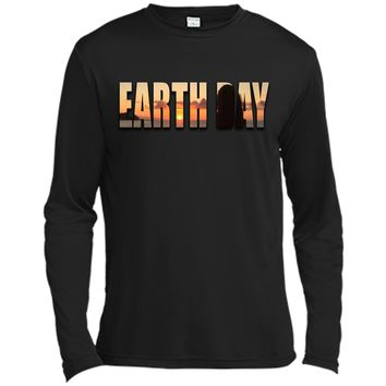 Earth Day tshirt Front And Back Design For Women Men Kids Long Sleeve Moisture Absorbing Shirt