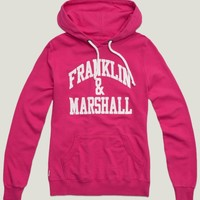 "Hooded sweatshirt with ""Franklin & Marshall"" wording rapa pink 