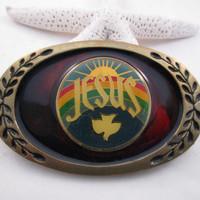 Jesus belt buckle. Man or a woman. free shipping -FL