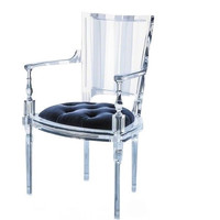 Marilyn Acrylic Arm Dining Chair