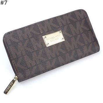MK Michael Kors classic print women's zipper organ wallet long wallet #7
