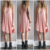 A Summer Tank Dress in Blush