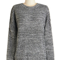 ModCloth Mid-length Long Sleeve Cozy to See Sweater
