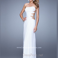 La Femme Cut Out Prom Dress 21197