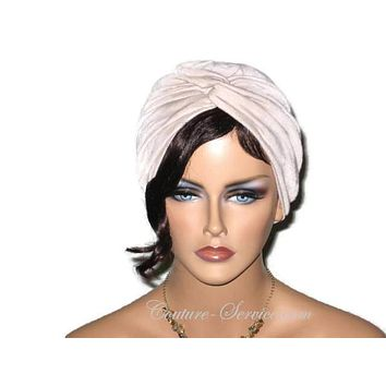 Handmade Tan Twist Turban, Crinkled Rayon