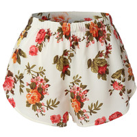 Lightweight  Floral Print Loose Beach Short