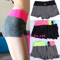 New Women Professional Sports Fitness Yoga Shorts Summer Quick Dry Female Running Pants Knickers Scanties Breechcloth Panties