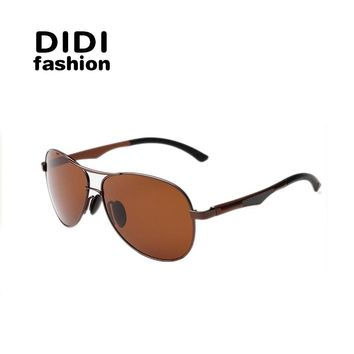 DIDI TAC Polarized Sunglasses Men Ultra-light Aluminum Luxury Brand Glasses Aviator Frog Driving Goggle Eyewear Accessory H342