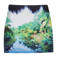 Jungle Print Mini Skirt