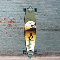 "Punked Surfer Pintail Longboard 40"" Green"