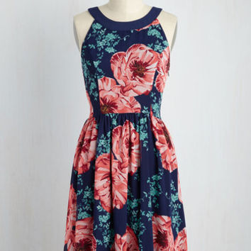 Day In and Date Out Dress in Navy Blossoms | Mod Retro Vintage Dresses | ModCloth.com