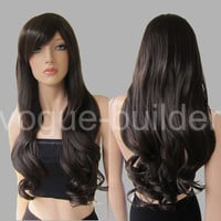 Heat Resistant Long Big Wavy Curly Cosplay Full Wig