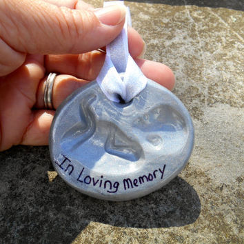 Miscarriage, Baby Loss, Pregnancy Loss, Baby Memorial, Clay Baby Ornament, Infant Memorial, Born into Heaven, Baby Memorial Ornament