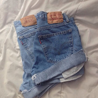 Lighter Wash Vintage Levis Shorts