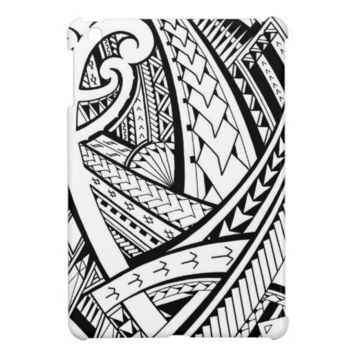 Samoan tribal tattoo design with spearheads iPad mini case from Zazzle.com