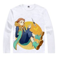 The Seven Deadly Sins T-Shirt King Harlequin Shirt heat-transferred Long sleeves t-shirts anime Fan kawaii costume t-shirts a
