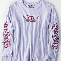 Aerosmith Long-Sleeve Graphic T-Shirt, Purple