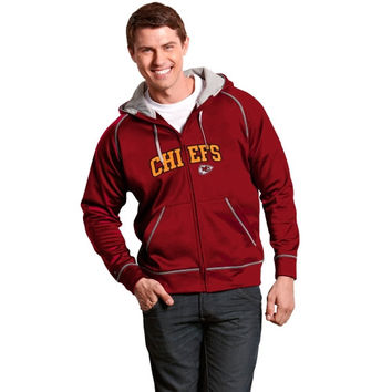 Kansas City Chiefs Antigua Resist Full Zip Hoodie – Red