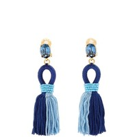 Short tassel-drop clip-on earrings | Oscar De La Renta | MATCHESFASHION.COM US