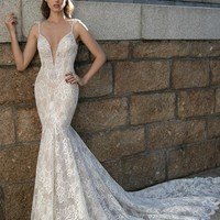 Berta Plunging V-Neck Beaded Lace Dress (In Stores Only) | Nordstrom