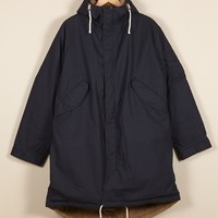 Universal Works Navy Reversible Parka in British Millerain | Universal Works