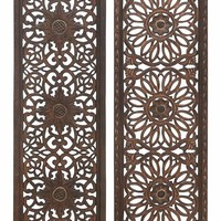 Benzara Wall Panel 2 Assorted Wood Sculpture That Can Be Used Anywhere