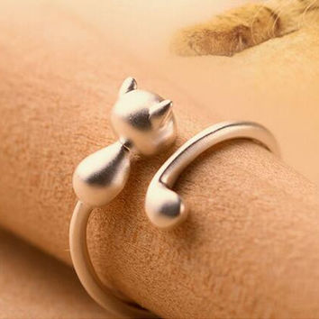 Cute Lovely Kitten Tail Ring, Adjustable Size
