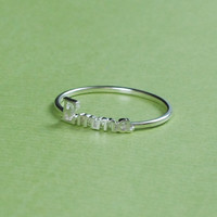 Stacked Ring - Initial Name Ring - Word Ring - Modern - Fashion Jewelry  - 18K Gold Plated