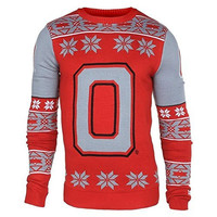 Ohio State University Buckeyes KLEW Big Logo Ugly Sweater Sizes S-XXL w/ Priority Shipping