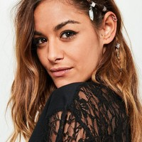 Missguided - Silver Hair Ring Set