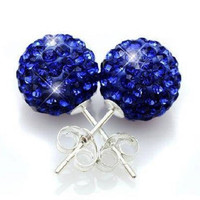 Genuine Swarovski Elements Crystal Ball Earrings