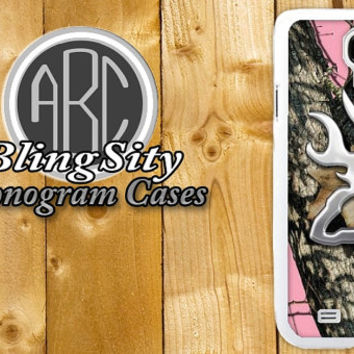 Browning Cutter Pink Camo Galaxy S3 S4 S5 NOTE 2 3 Case Cover Skin Hard Shell Back Not actual Chrome