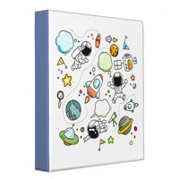 Cartoon Space Folder Binder