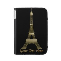 Eiffel Tower Kindle Caseable Case from Zazzle.com