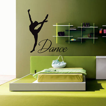 kik2220 Wall Decal Sticker dance dancer girl living room bedroom children's room
