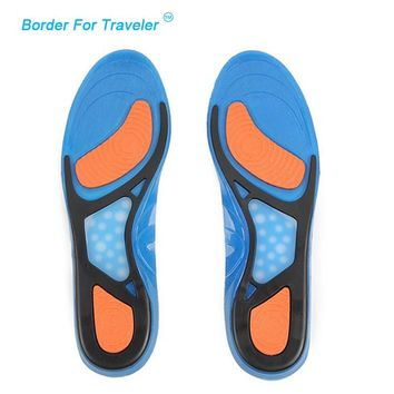 New Silicone Gel Massaging insole Sports insoles foot care health shock absorption shoe pads Plantar Fasciitis shoes pad MC003