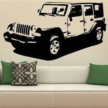 JEEP WRANGLER Sahara Rubicon 4x4 Off Road Wall Art Sticker Decal 1549