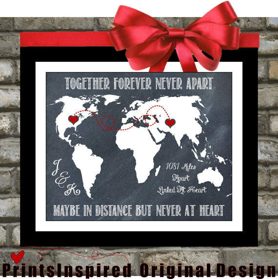 long distance relationship personalized from