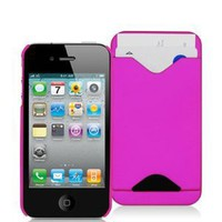 iPhone 4s and iPhone 4 Silicone Case with Credit Card Slot - Pink