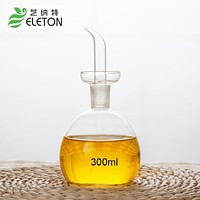 ELETON 300ml Medium eco-friendly oil and vinegar bottle cruet glass oil bottle olive oil bottles kitchen supply Kitchenware