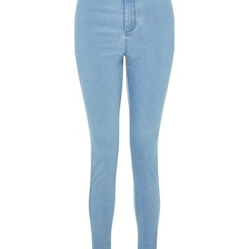 STEFFI Cloud Blue Super High Waist Jeans - Miss Selfridge