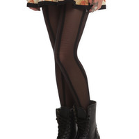 LOVEsick Sheer Black Stripe Tights