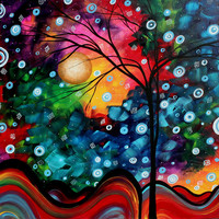 Abstract Art Landscape Tree Painting Brilliance In The Sky Madart Painting by Megan Duncanson - Abstract Art Landscape Tree Painting Brilliance In The Sky Madart Fine Art Prints and Posters for Sale