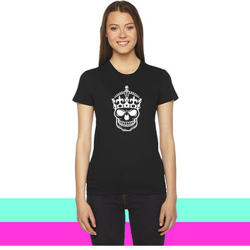 Keep Calm Skull Crown women T-shirt
