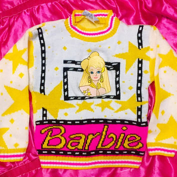 Super Mega RARE vintage 90s / 80s Barbie Sweater