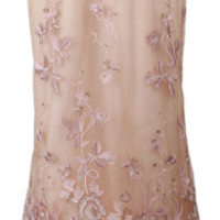Notte By Marchesa Pink Embellished Floral Tulle Gown