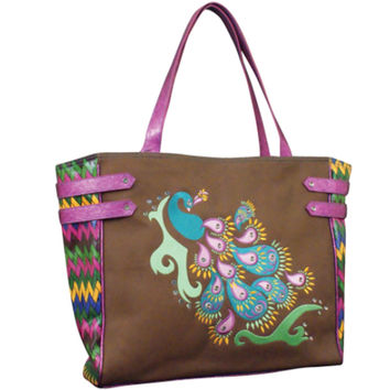 Penelope Peacock Tote by Catchfly