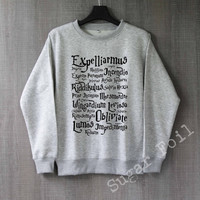 Harry Potter Spell Shirt Harry Potter Sweatshirt Hoodie Sweater Unisex - Size S M L XL