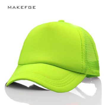 d211e09f Trendy Winter Jacket snap caps Fluorescent mesh cap baseball hat